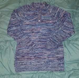 Vintage button-up space dye sweater